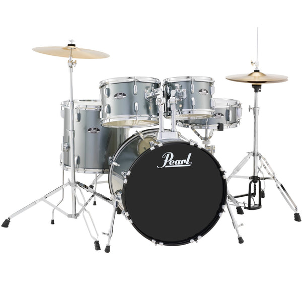 Pearl 5 Piece Roadshow Drum Kit in Charcoal with Stands and Cymbals - RS525SCC706