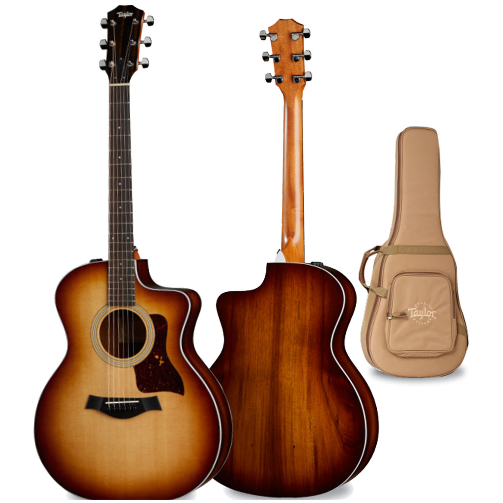 Taylor GA Cutaway Acoustic Electric Shaded Edgeburst in Sunburst w/Bag - 214CEKSB