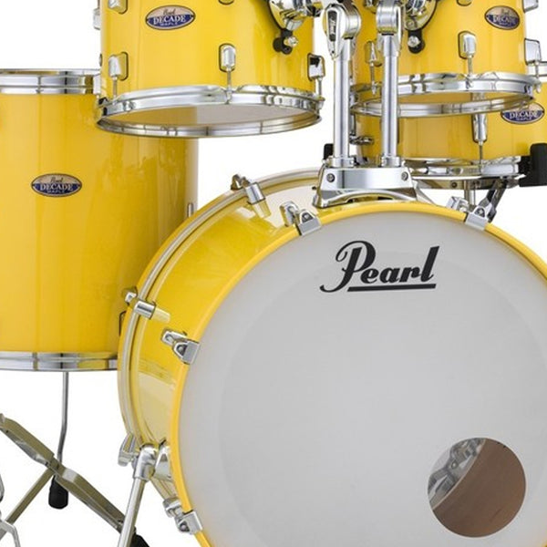 Pearl DMP925SPC228 Decade Maple 5 Piece Shell Pack in Solid Yellow