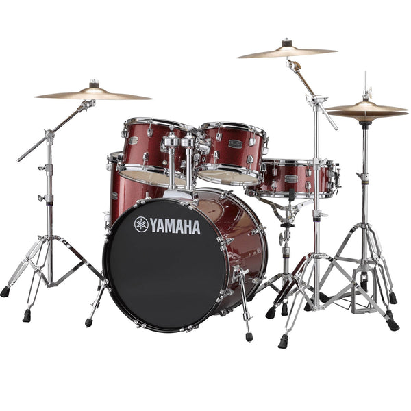 Yamaha Rydeen 5 Piece Drum Set in Burgundy Glitter - RDP2561BGG