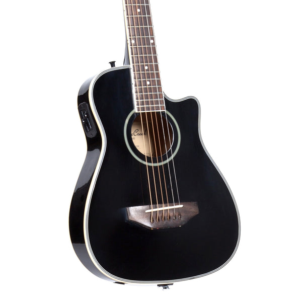 Beaver Creek BCRB501CEBK Travel Cutaway Acoustic Electric in Black
