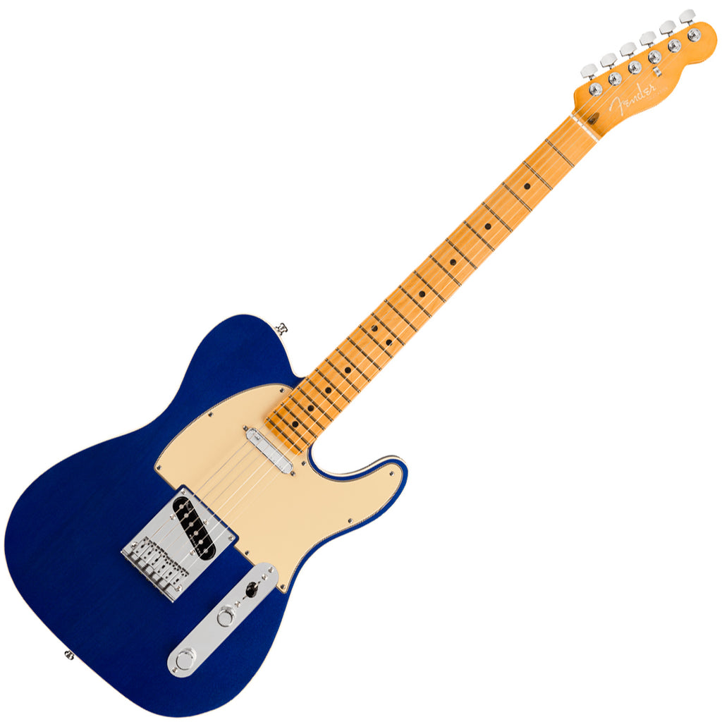 Fender American Ultra Telecaster Electric Guitar Maple in Cobra Blue with Case - 118032795