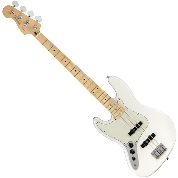 Fender 0149922515 Left Handed Player Jazz Bass Guitar Maple Neck in Polar White