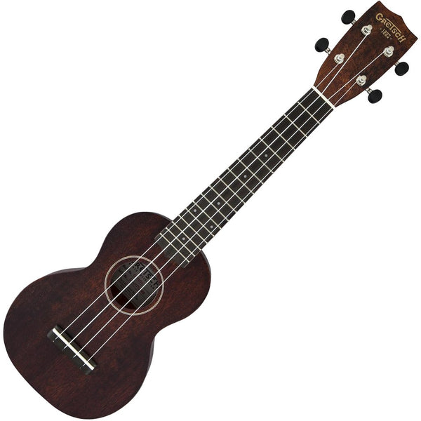 Gretsch G9110-L Concert Long-Neck Electric Ukulele Vintage Mahogany Stain with Bag - NOS2732031321