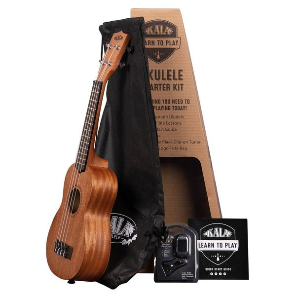 Kala Learn To Play Soprano Ukulele Starter Pack - KALALTPS