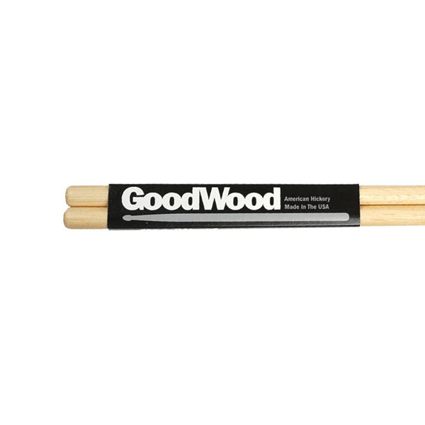 Vater 7A Goodwood Hickory Wood Tip Drumsticks - GW7AW