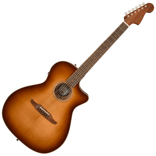 Fender Newporter Classic Cutaway Acoustic Electric in Aged Cognac Burst with Bag - 0970943137