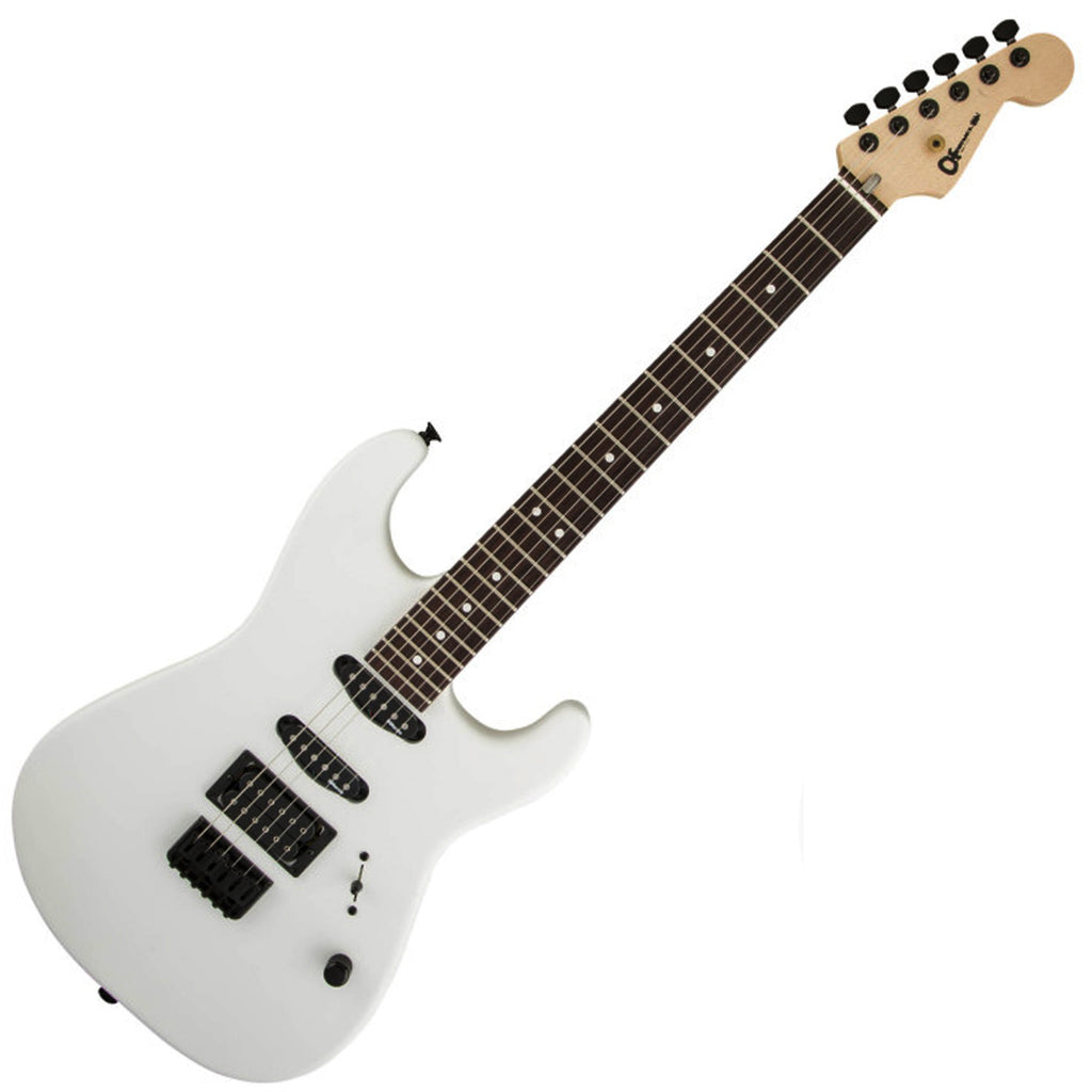 Charvel USA Select San Dimas Style 1 HSS HT Rosewood Electric Guitar in Snow Blind Satin - 2835253776