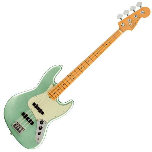 Fender American Professional II Jazz Bass Guitar Maple Mystic Surf Green w/Case - 0193972718