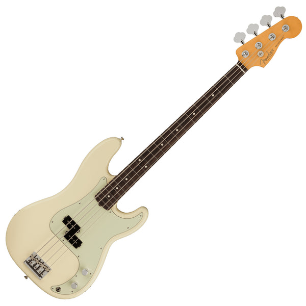 Fender American Professional II P Bass Rosewood Olympic White Bass Guitar w/Case - 0193930705