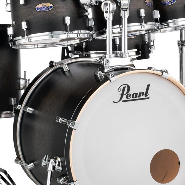 Pearl DMP925SPC262 Decade Maple 5 Piece Shell Pack in Satin Black Burst