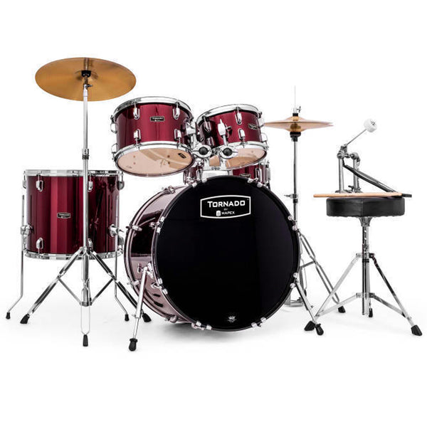 Mapex TND5044TCDR Tornado 5 Piece Rock Kit in Burgundy