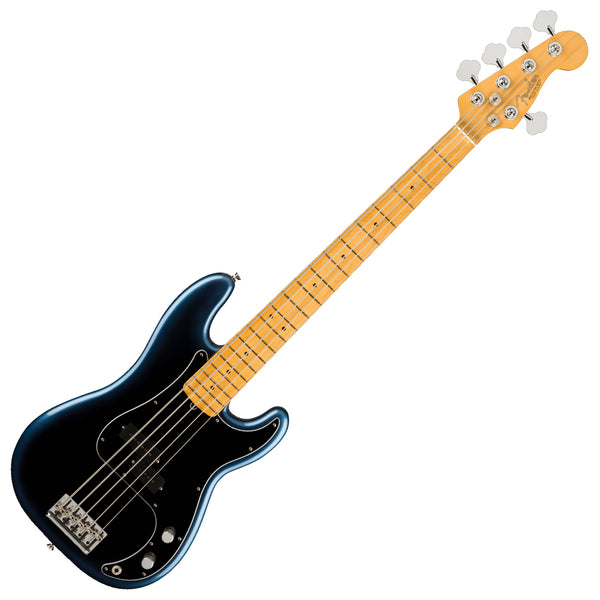 Fender American Professional II Jazz Bass® V, Rosewood Fingerboard in Dark Night w/Case - 0193962761