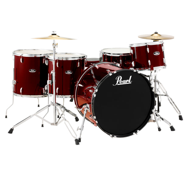 Pearl 5 Piece Roadshow Drum Kit w/Stands and Cymbals in Wine Red - RS525WFCC91