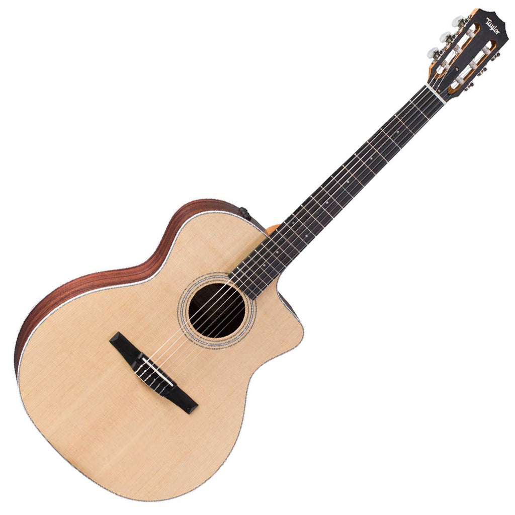 Taylor 214CEN GA Cutaway Acoustic Electric Nylon String Rosewood Back Spruce Top with Hard Bag
