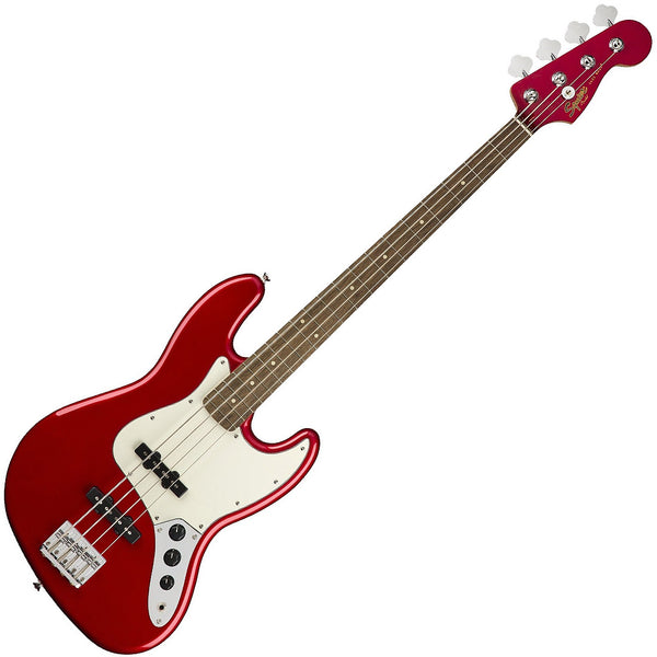 Squier Contemporary Jazz Bass Guitar Laurel in Dark Red Metallic - 0370400525