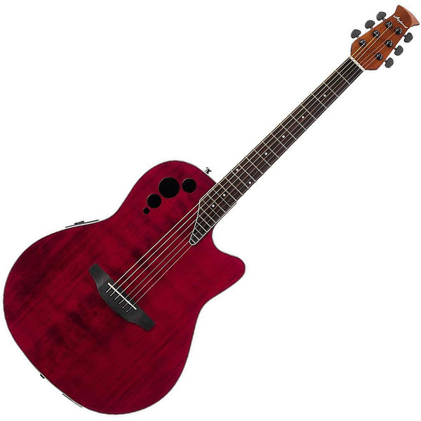 Ovation Applause Elite Plus Acoustic Electric in Ruby Red - AE44IIRR