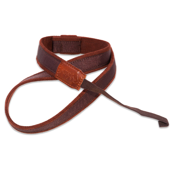 RightOn Ukulele/Mandolin Hook Brown Guitar Strap - 8401110040351