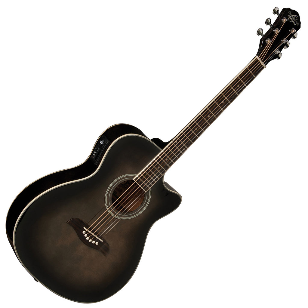 Oscar Schmidt Acoustic Electric in Transparent Black - OACEFTBA