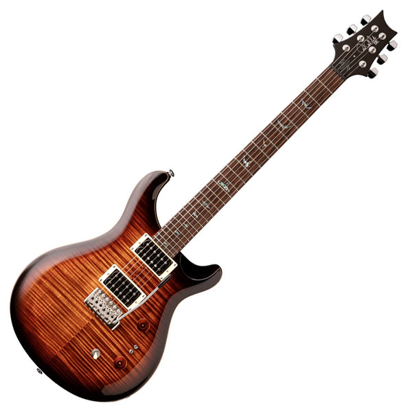 PRS 35th Anniversary SE Custom 24 Electric Guitar in Black Gold Burst with Bag - CU2435BG