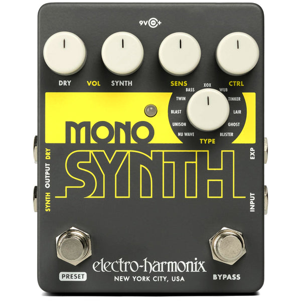 ElectroHarmonix MONOSYNTH Guitar Monophonic Synth Effects Pedal
