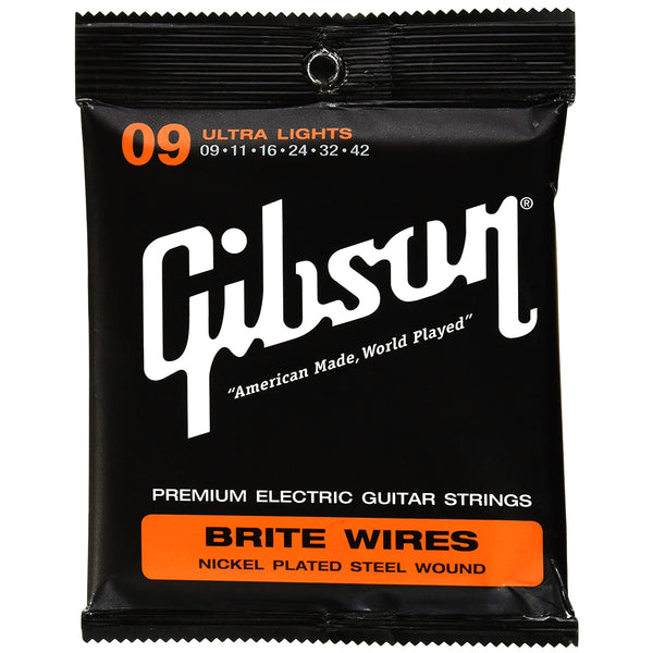 Gibson Brite Wires Nickel 9-42 Electric Strings - GBWR9