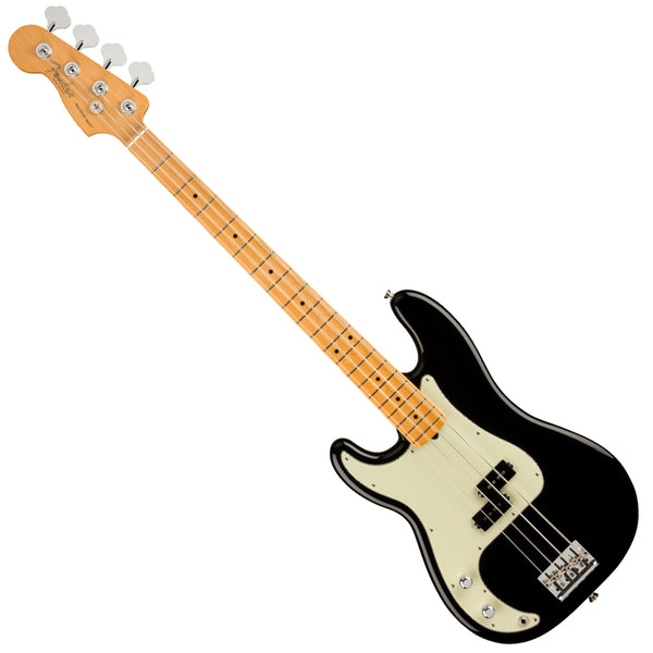 Fender Left Hand American Professional II P Bass Maple Black Bass Guitar w/Case - 0193942706