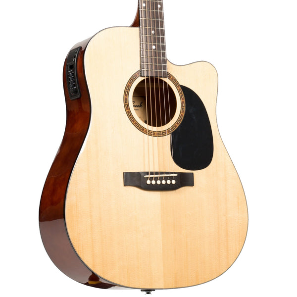 Beaver Creek BCTD101CE Dreadnought Cutaway Acoustic Electric in Natural