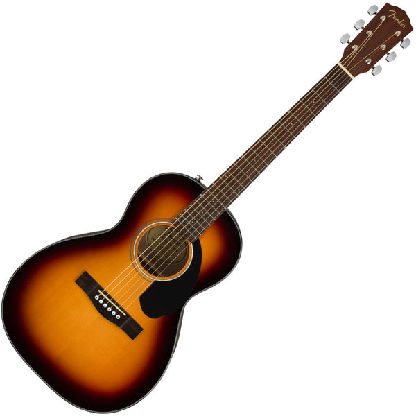 Fender CP-60S Parlor Solid Top Acoustic Guitar in 3 Color Sunburst - 970120032