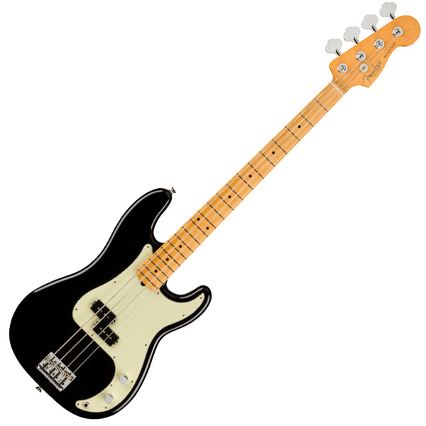 Fender American Professional II P Bass Maple Black Bass Guitar w/Case - 0193932706