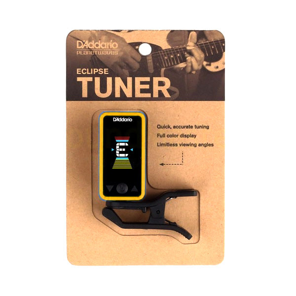 Planet Waves PWCT17YL Eclipse Chromatic Guitar Tuner in Yellow