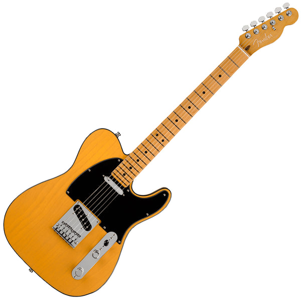 Fender American Ultra Telecaster Electric Guitar Maple in Butterscotch Blonde with Case - 118032750