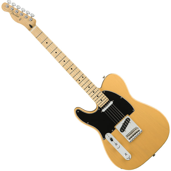 Fender Left Hand Player Telecaster Electric Guitar Maple Neck in Butterscotch Blonde - 0145222550