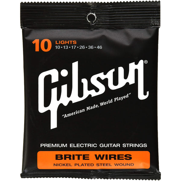 Gibson Brite Wires Nickel 10-46 Electric Strings - GBWR10