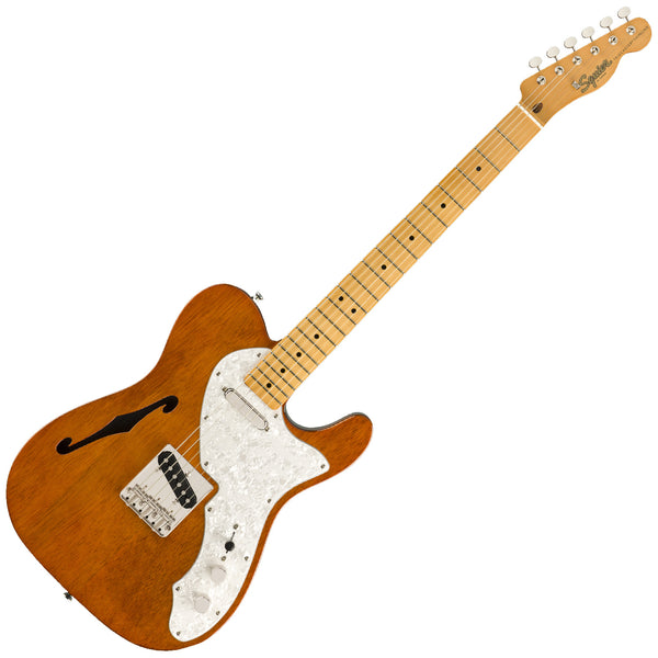 Squier Classic Vibe '60s Telecaster Thinline Electric Guitar Maple in Natural - 0374067521