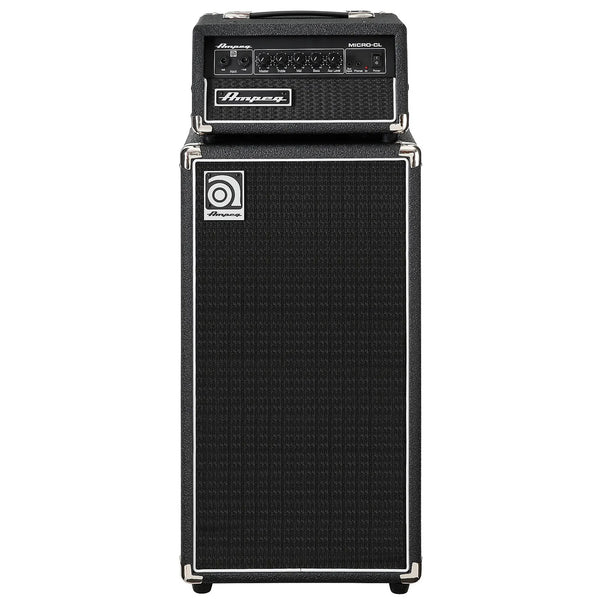 "Ampeg MICROCL 100 Watt Bass Amplifier Micro Stack with 2x10"" Cabinet"