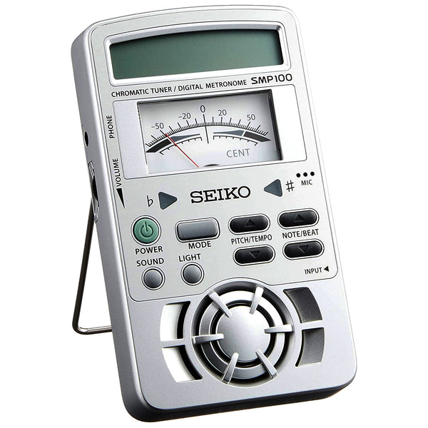 Seiko Chromatic tuner & Metronome Analog Meter and Loud Sound - SMP100