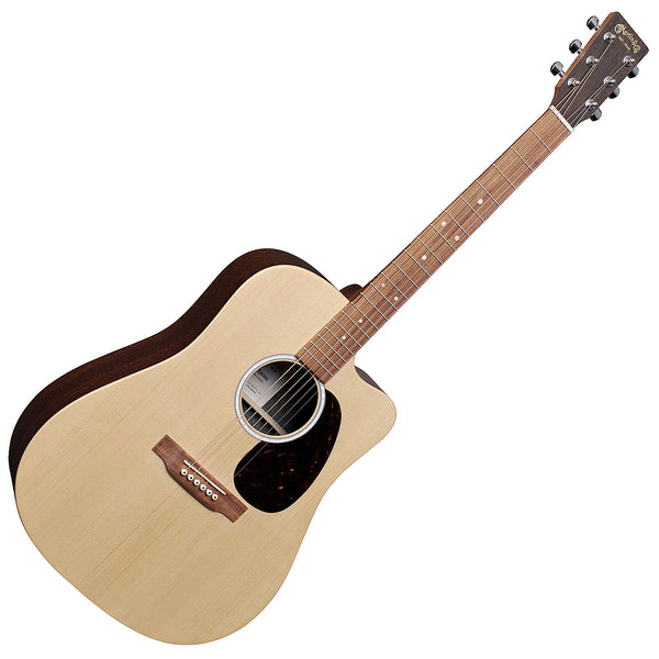 Martin X Series Dreadnought Acoustic Electric Mahogany with Bag - DCX2EMACASSAR