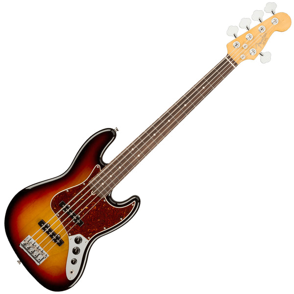 Fender American Professional II Jazz Bass® V, Rosewood Fingerboard, 3-Color Sunburst - 0193990700
