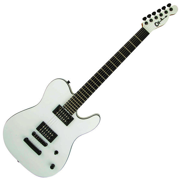 Charvel Joe Duplantier Pro-Mod San Dimas Style 2 HH Ebony Electric Guitar in Satin White - 2976181398