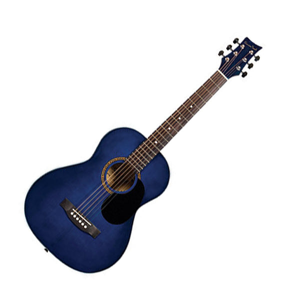 Beaver Creek BCTD601TB 3/4 Size Acoustic Guitar in Transparent Blue