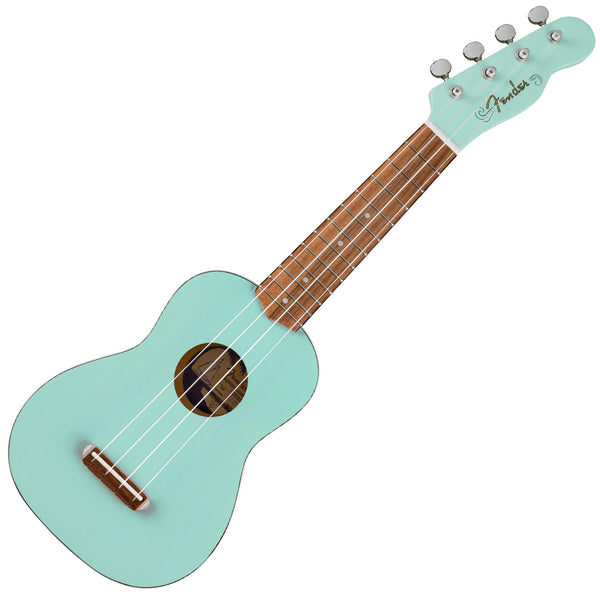 Fender 971610557 Venice Soprano Ukulele in Surf Green