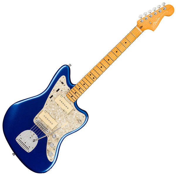 Fender American Ultra Jazzmaster Electric Guitar Maple in Cobra Blue with Case - 118052795