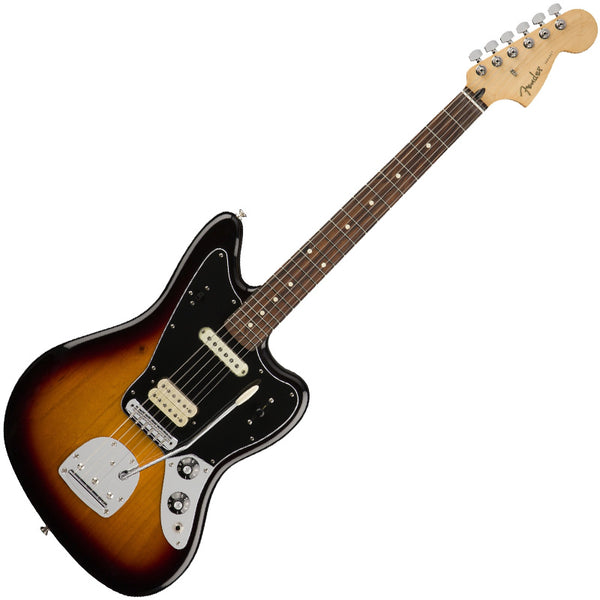 Fender 0146303500 Player Jaguar Electric Guitar Pau Ferro in 3 Tone Sunburst