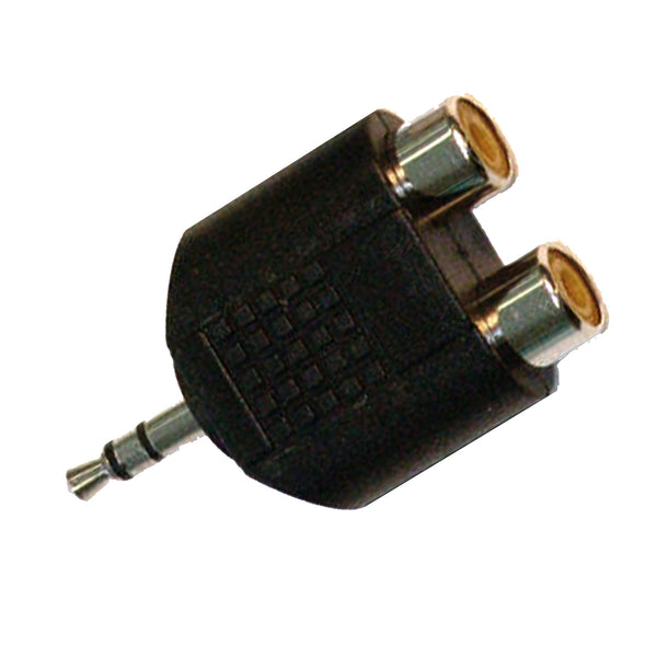 Apex AA52 Stereo 1/8 Male to 2 x RCA Female Solid Y Adapter