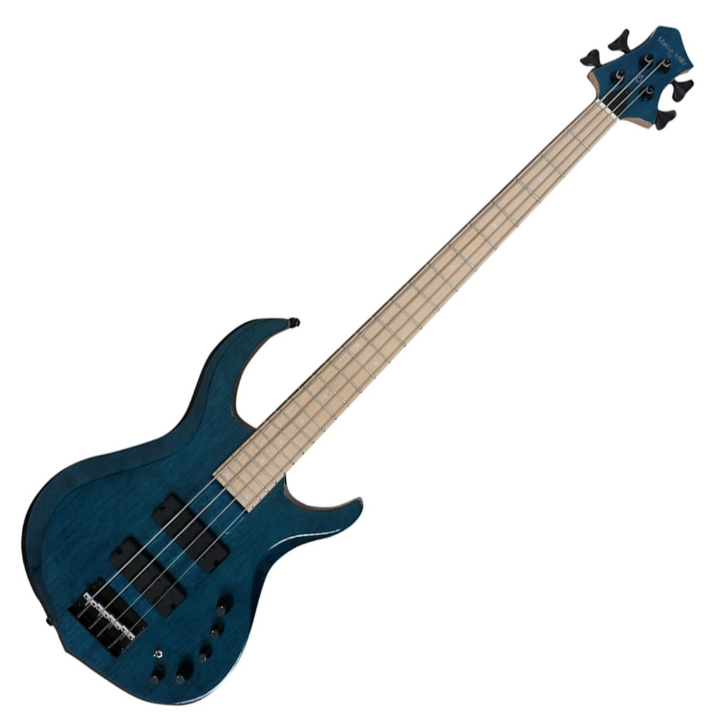 Sire M2 4 String Bass Guitar in Transparent Blue