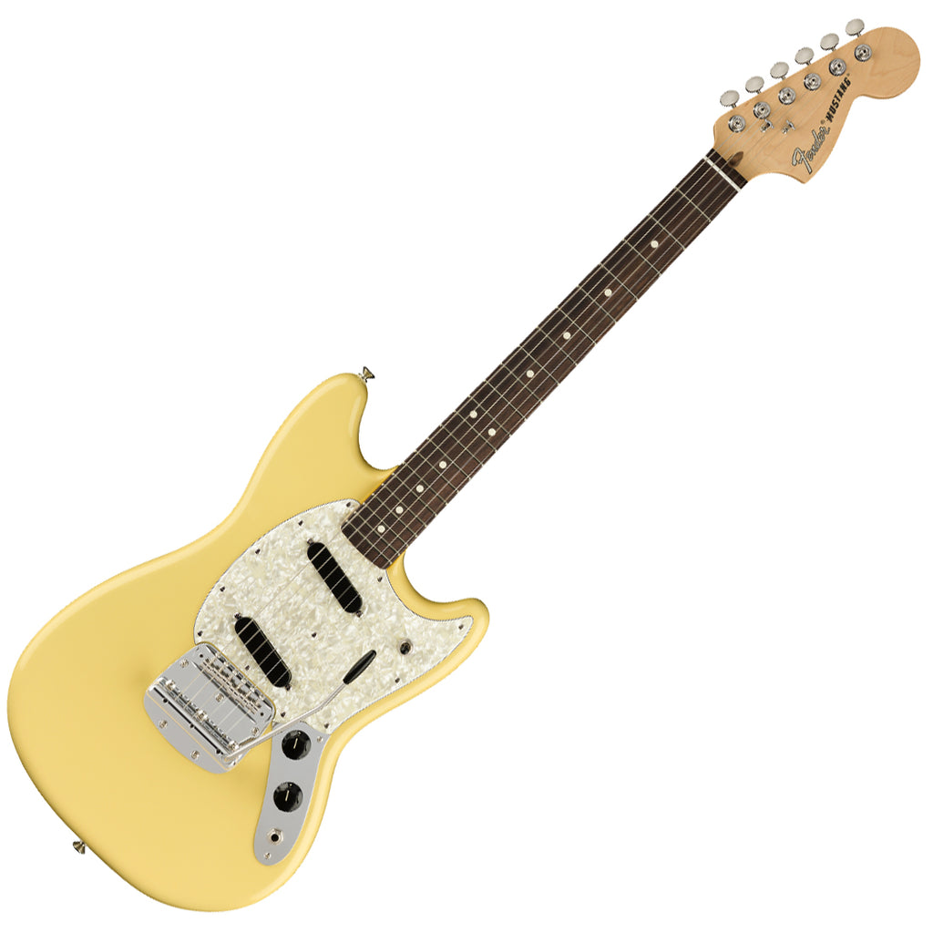 Fender 0115510341 American Performer Mustang Electric Guitar Rosewood in Vintage White w/Bag