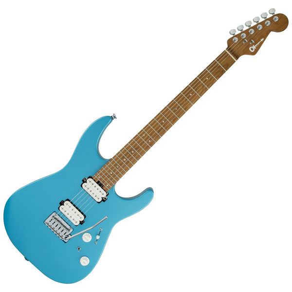 Charvel Pro-Mod Dinky DK24 HH 2PT Caramelized Maple Electric Guitar in Matte Blue Frost - 2969411534