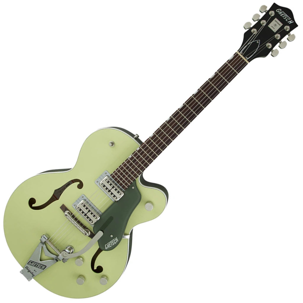 Gretsch Players Edition Anniversary Hollow Body in 2-Tone Smoke Green Electric Guitar with Case - G6118T