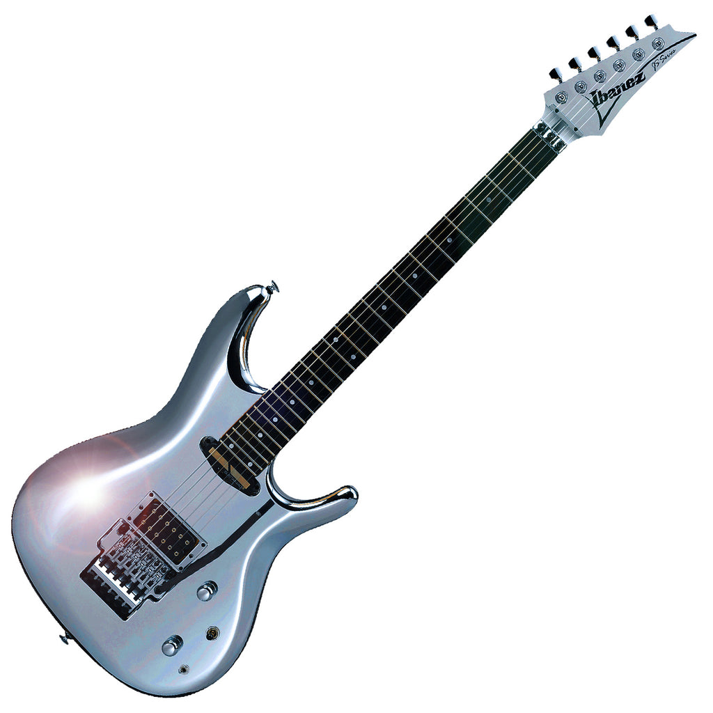 Ibanez MIJ Joe Satriani Electric Guitar in Chrome Finish w/ Sustainiac and Hard Case - JS1CR